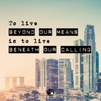 3:16 Church Inspirations - To live beyond our means
