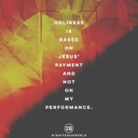 3:16 Church Singapore: Holiness is based on Jesus' Payment