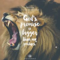 3:16 Church Singapore: God's promise is bigger than my perhaps
